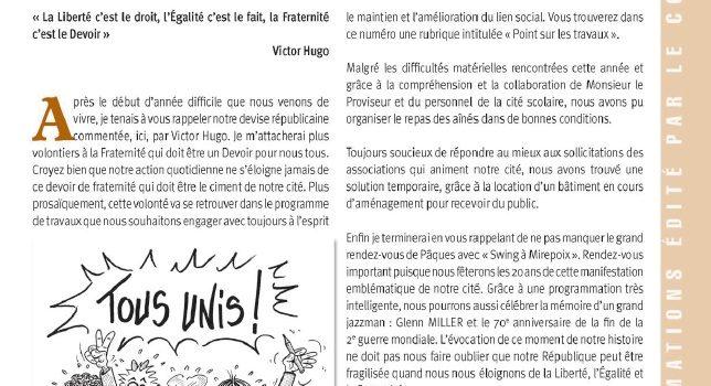 Mirepoix Infos n°135 – Mars 2015