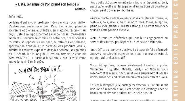 Mirepoix Info N°139 Juillet – Août 2015