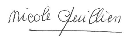signature Nicole QUILLIEN