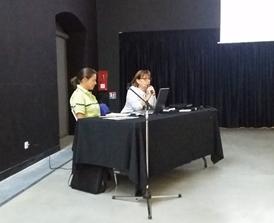Mme NOUGIES de l'ONF et Mme le Maire ont animé cette réunion très bien argumentée