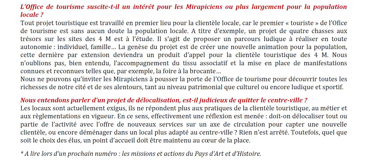 L office de tourisme site officiel de la mairie de mirepoix - Declaration en mairie des meubles de tourisme ...