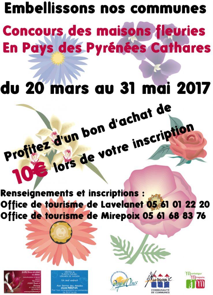 Concours intercommunautaire de fleurissement site officiel de la mairie de mirepoix - Office de tourisme de mirepoix ...