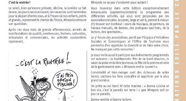 Mirepoix Infos n°140 – Septembre/Octobre 2015