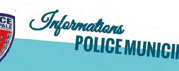 Informations Police Municipale – Décembre