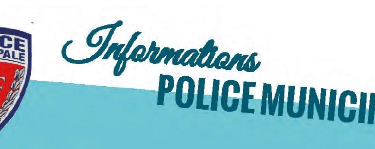INFOS POLICE MUNICIPALE