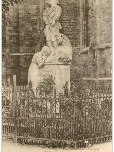 Souvenir de la cérémonie d'inauguration du monument aux morts de Mirepoix le 21 novembre 1920