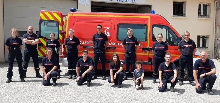 Les nouveaux Sapeurs-Pompiers en formation pour mieux vous servir