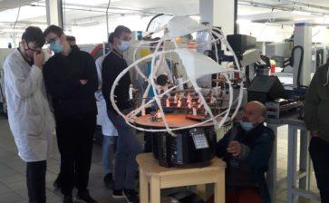 Emmanuel Audibert de la compagnie 36 du mois et ses marionnettes automatisées au Lycée de Mirepoix  !