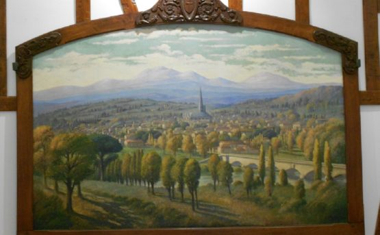 Dans la mairie, comme une galerie d'œuvres d'art qui disent l'histoire de Mirepoix …